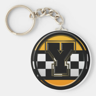 Initial Y taxi driver Keychain