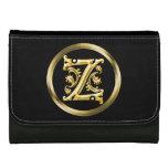 Initial Z Letter in Gold Wallet