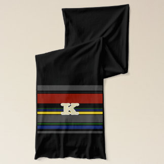 Initialed Contemporary Ivy League Scarf - K