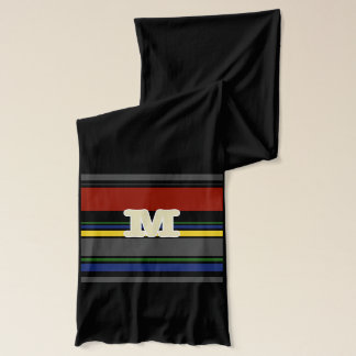 Initialed Contemporary Ivy League Scarf - M