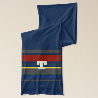 Initialed Contemporary Ivy League Scarf - T