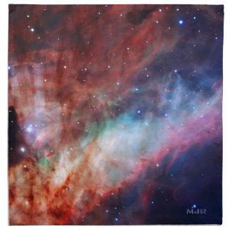 Initialled Omega Nebula - Our Amazing Universe Cloth Napkin