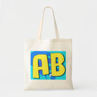 Initials AB Monogram Tote Bag by Mandee