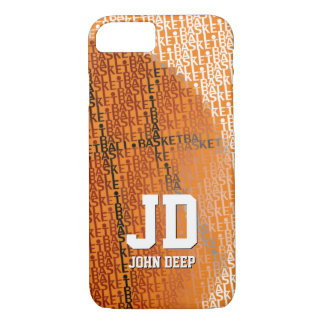 Initials Basketball Typed Text   Sport Gift iPhone 7 Case