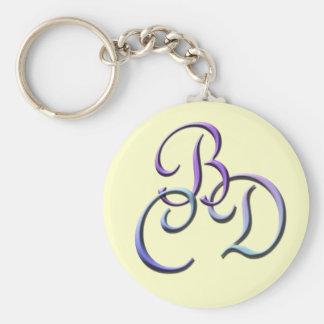 Initials BCD Keychain