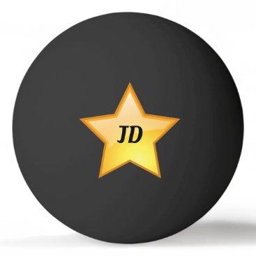 Initials Golden Star Ping Pong Ball