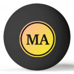Initials Gradient Ping Pong Ball