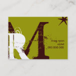 Initials Green Chubby Appointment Card