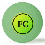 Initials Green  Gradient Ping Pong Ball