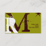 Initials Green regular Appointment Card