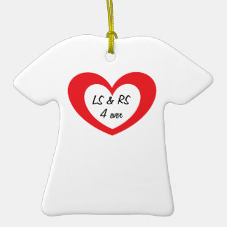 Initials in Heart 4 Ever T-Shirt Christmas Ornaments