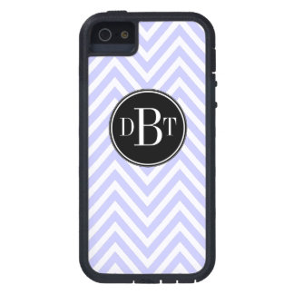 Initials Lilac Purple White Chevron Pattern Case For iPhone SE/5/5s
