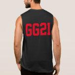 Initials & Number Sleeveless Shirt