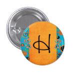 initials pinback button
