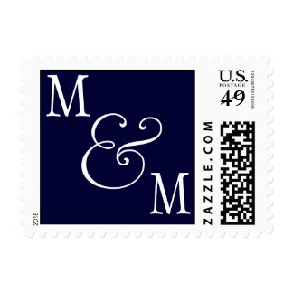 INITIALS  POSTAGE NAVY WHITE