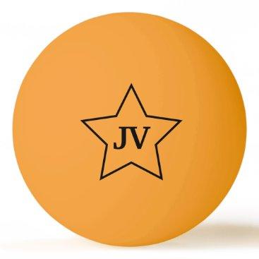 Initials Star Ping Pong Ball