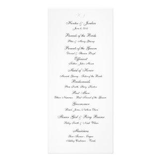 """Initials"" Wedding Programs"
