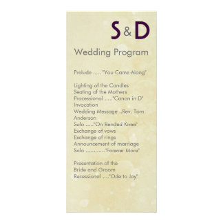 Initials Wedding Programs