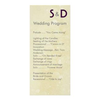 Initials Wedding Programs Rack Card Design