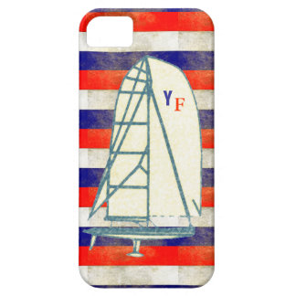 initials yachting marine stripes iPhone SE/5/5s case