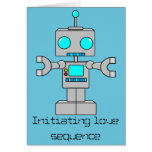 Initiating love sequence greeting card