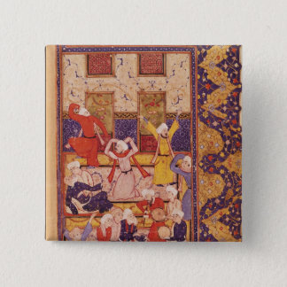Initiation dance, from a book of poems pinback button