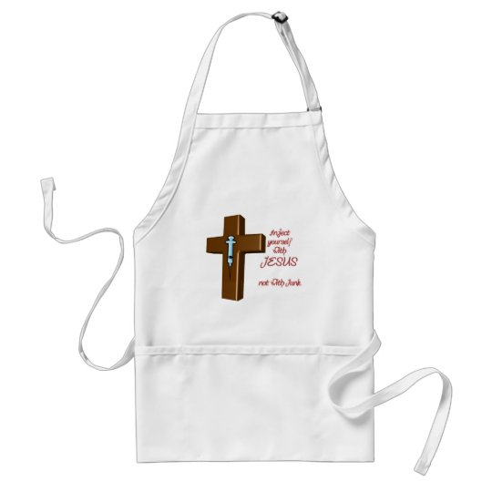 Inject Yourself with Jesus Adult Apron