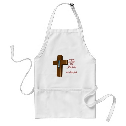 Inject Yourself with Jesus Aprons