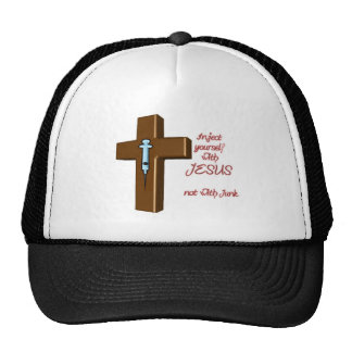 Inject Yourself with Jesus Trucker Hat