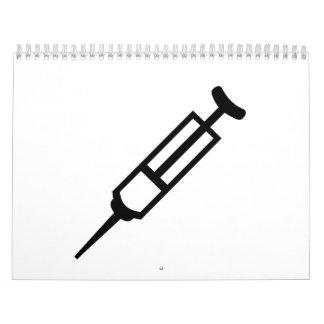 Injection syringe calendar