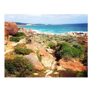injidup beach rocks postcard