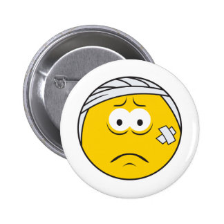 Injured Boo boo Smiley Face 2 Inch Round Button