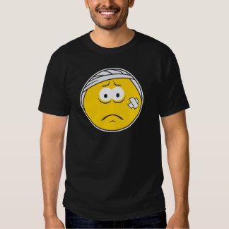 Injured Boo boo Smiley Face T-Shirt