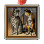 Injured Cat on Crutches Christmas Ornament