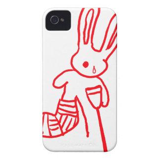 """Injured Rabbit / Bunny"" Funny iPhone 4 Case"