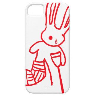 """Injured Rabbit / Bunny"" Funny iPhone 5 Case"