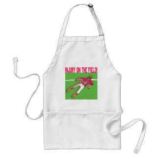 Injury On The Field Adult Apron