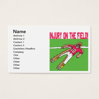 Injury On The Field Business Card