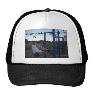 injury points79 trucker hat