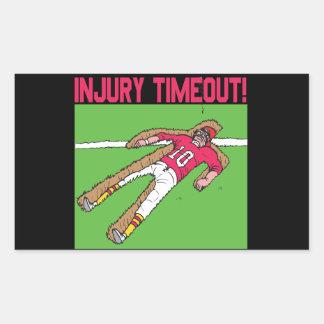 Injury Timeout Rectangle Sticker