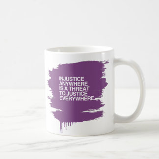 INJUSTICE ANYWHERE IS A THREAT TO JUSTICE -.png Classic White Coffee Mug