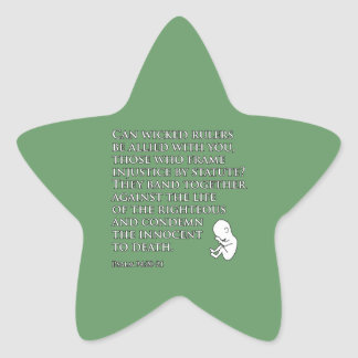 Injustice by Statute Star Sticker
