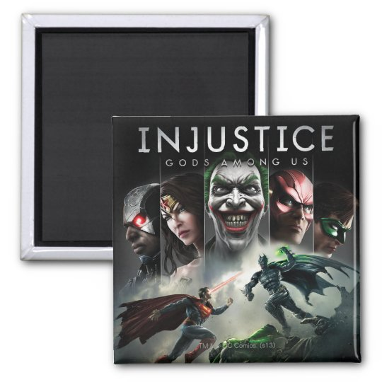 Injustice: Gods Among Us 2 Inch Square Magnet