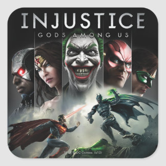 Injustice Gods Among Us Square Sticker