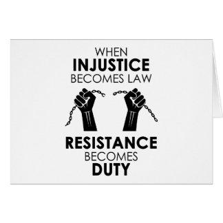 Injustice Greeting Card