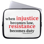 Injustice Resistance Computer Sleeve