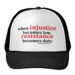 Injustice Resistance Mesh Hat