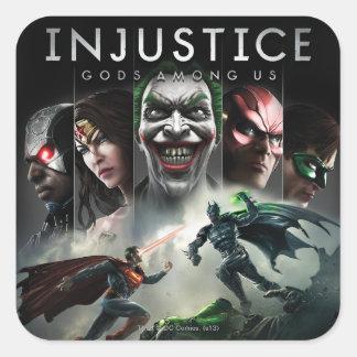 Injusticia: Dioses entre nosotros Calcomania Cuadradas Personalizada