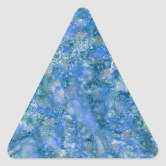 Ink101b-2 Marble Painting Triangle Sticker