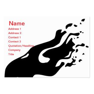 Ink Abstract -Chubby Large Business Card